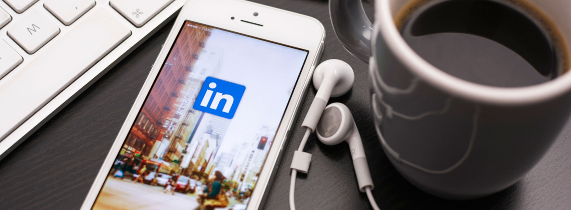 LinkedIn on a mobile phone