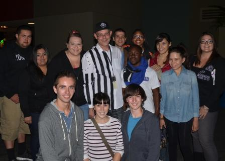 SAB members join alumni and Creative Director John Murdy '89 at Universal Studios Halloween Horror Nights 2012
