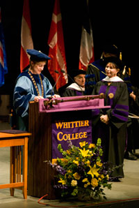 Humanitarian-Authors Isabel Allende and William C. Gordon Receive Honorary Degrees