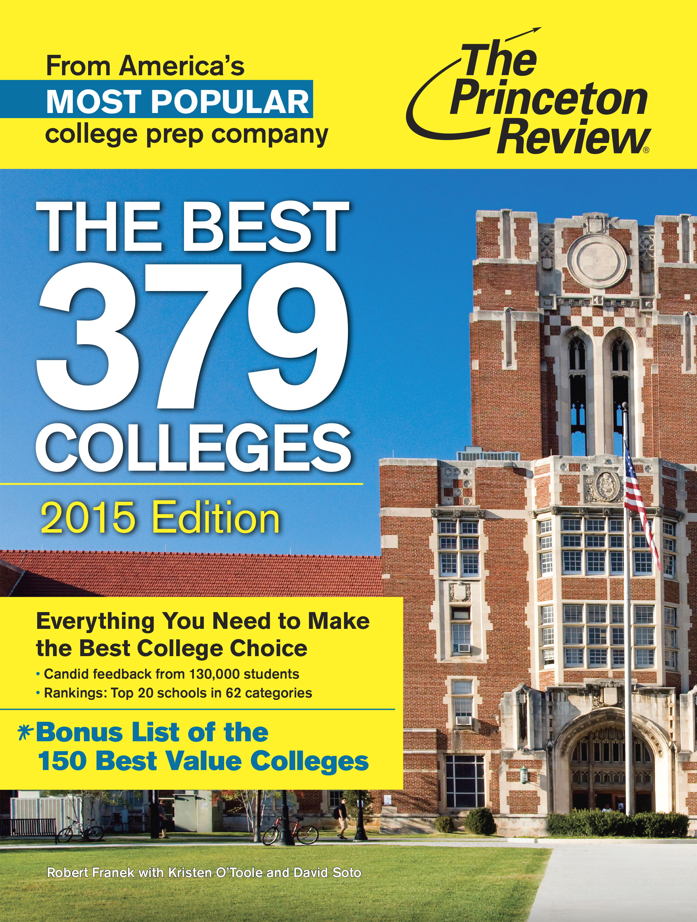 Princeton Review, The Best 379 Colleges (2015 edition) cover