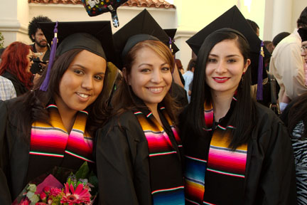 Whittier College celebrates latino graduation.